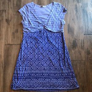 Athleta Purple Dhara Burnout Dress Sz 2X
